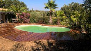 terrasse bois piscine aigues vives