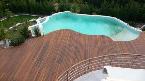 terrasse piscine bois alès