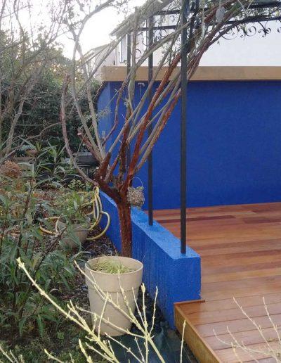 Terrasse en bois exotique Garapa à Caveirac
