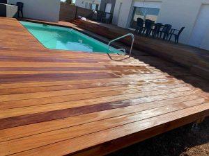 tour de piscine bois sommieres