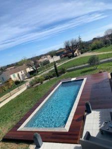 poseur terrasse bois piscine gard
