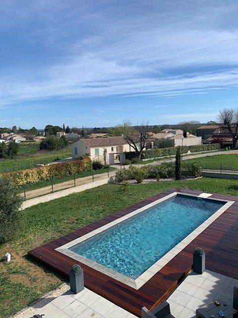 terrasse piscine bois gard