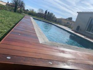 tour de piscine bois exotique nimes gard
