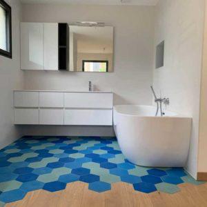 parquet chene massif salle de bains montpellier