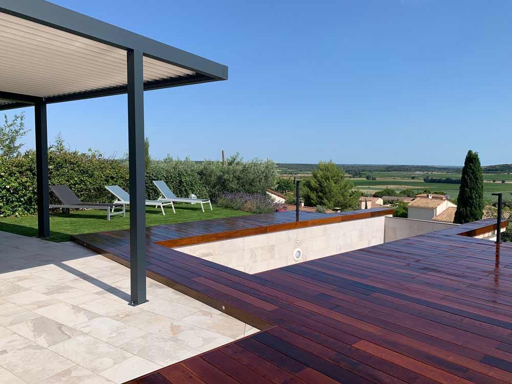 Terrasse en bois Itauba et traitement à l'huile de lin , Calvisson
