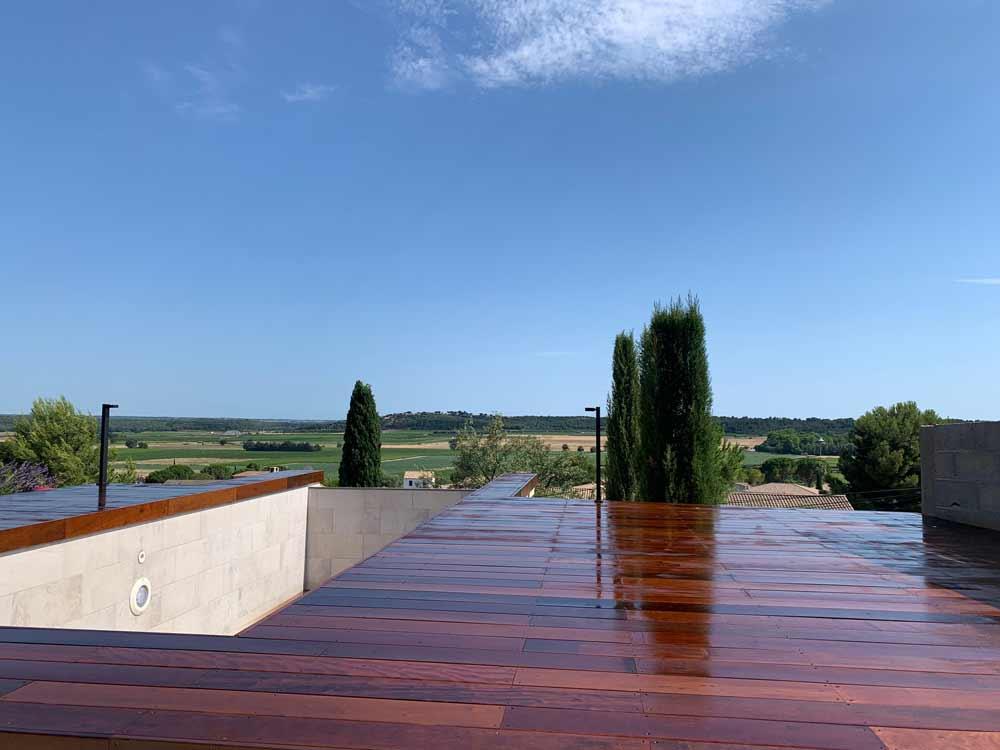 pose terrasse bois gard