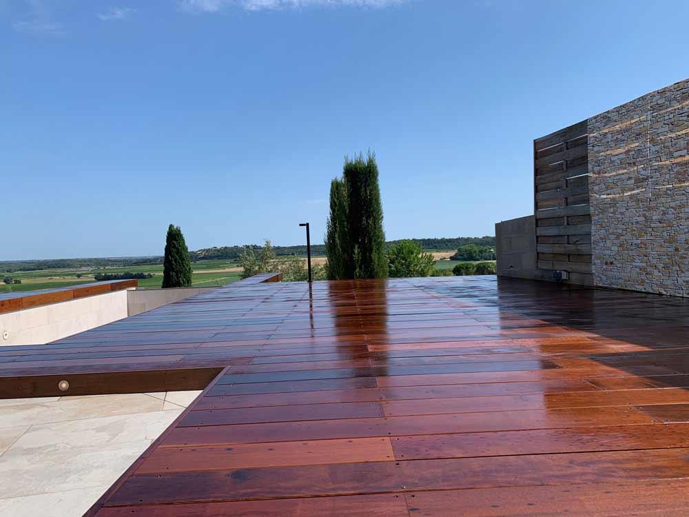 terrasse en bois en itauba calvisson